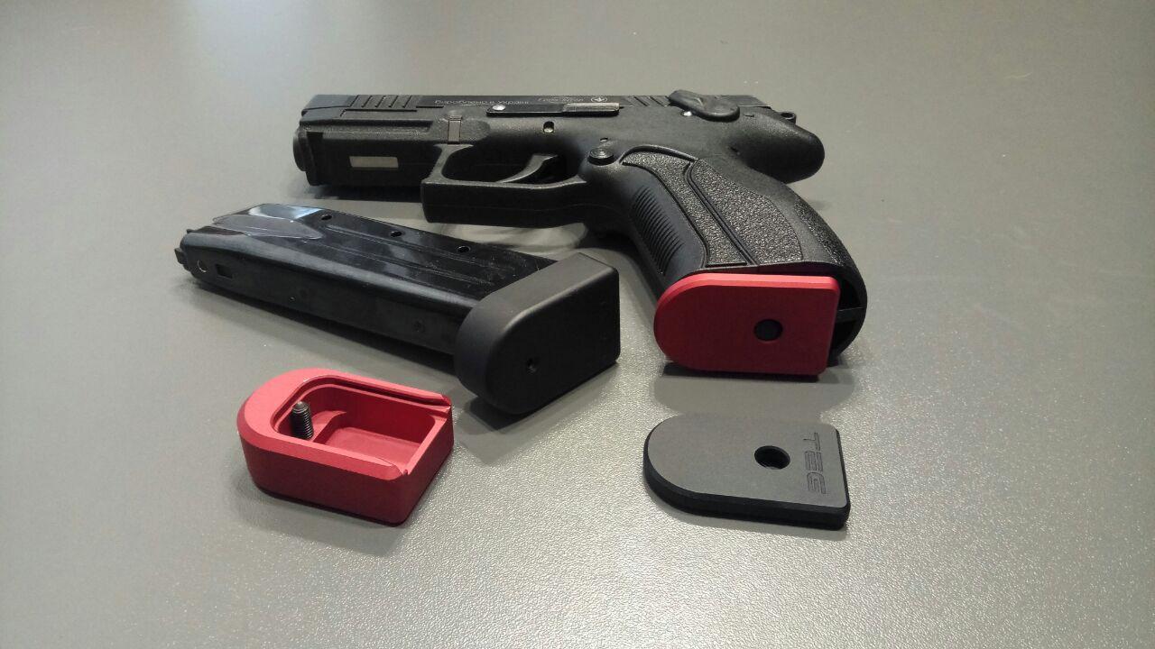 TEG MagBase - П'ятки для магазинів пістолетів Grand Power (Ерма Т9, Safari Латек GP910, Flarm T910) збільшеної ємності та без збільшення ємності.